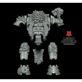 mini knight Skull Blood Armour kit grinder  version
